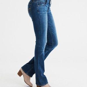 AE Skinny Kick Super Stretch Medium Wash Jeans